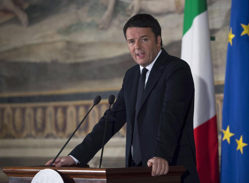 Il presidente del Consiglio Matteo Renzi nella sala degli Orazi e dei Curiazi in Campidoglio (Fonte: Palazzo Chigi)