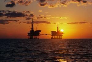 tramonto del petrolio