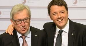 Juncker, renzi, polemiche