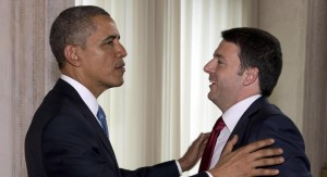 Renzi Obama crescita austerità cena