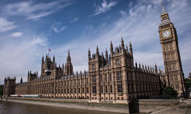 The Palace of Westminster, home to the House of Lords and the House of Commons.