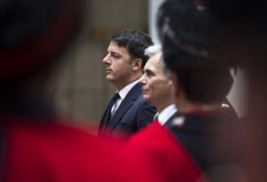 Il premier Matteo Renzi con l'omologo austriaco Werner Faymann (Foto: Barchielli, Palazzo Chigi)