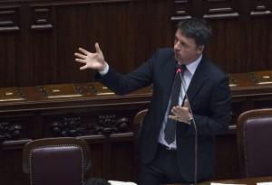 Il premier Matteo Renzi interviene in Aula a Montecitorio (Foto: Barchielli, Palazzo Chigi