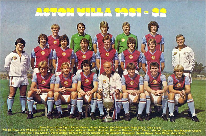 L'Aston Villa che vinse la Coppa dei Campioni nel 1982