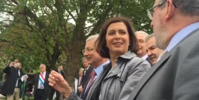 Laura Boldrini Schengen lucchetto chiave