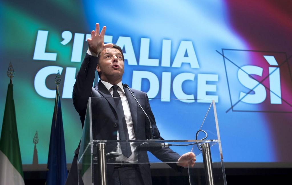 Il prmier Matteo Renzi lancia la campagna per il referendum costituzionale (Fonte: Palazzo Chigi, Foto Barchielli