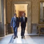 Il premier Renzi e il segretario generale della Nato, Jens Stoltemberg (Foto: Barchielli, Palazzo Chigi)