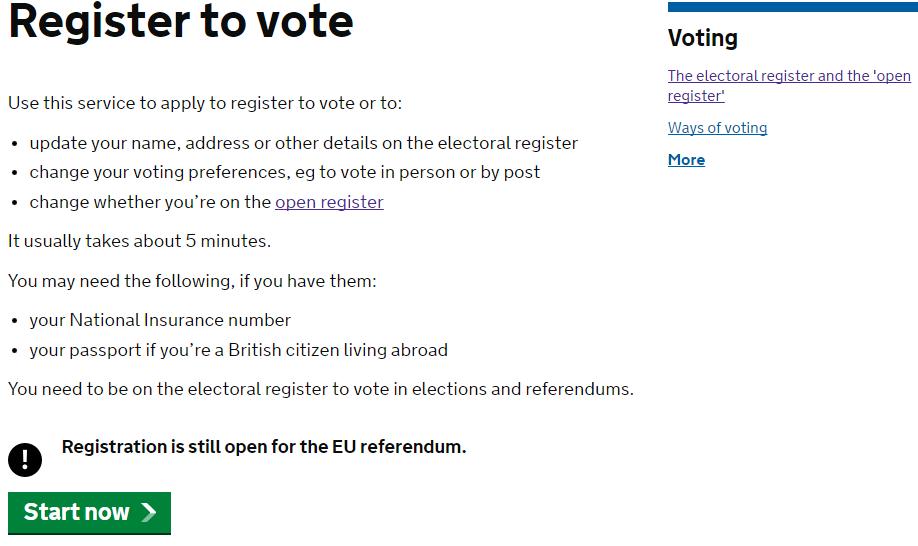Brexit registrazione sito