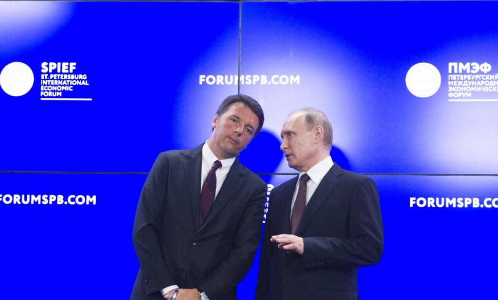 Renzi_Putin_Pietroburgo