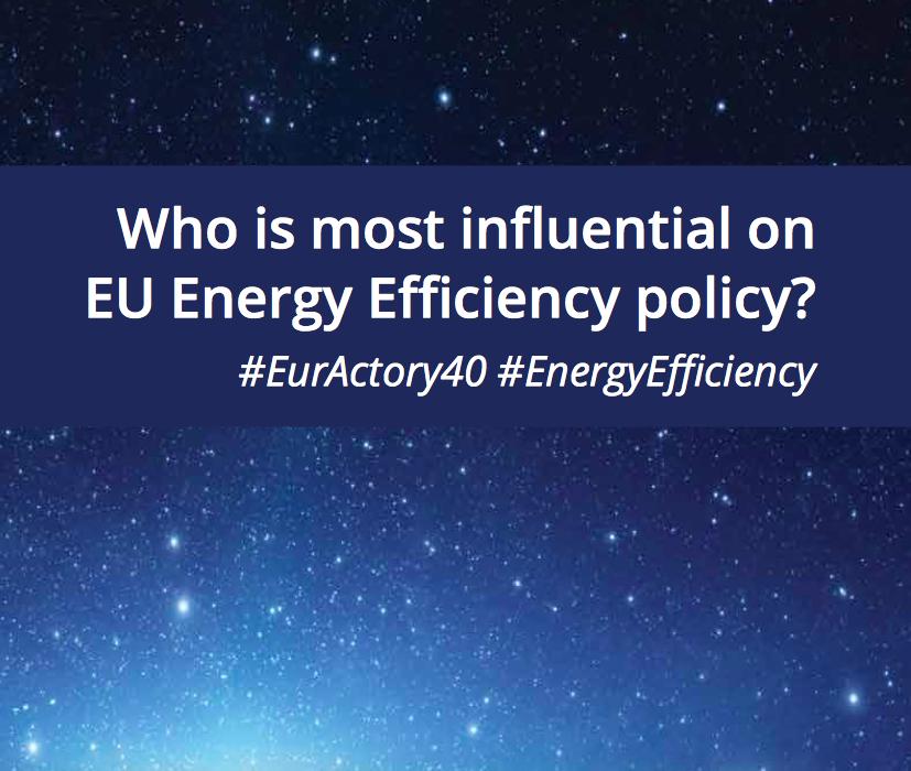 Le quaranta personalità più influenti d'Europa in materia di politiche sull'efficenza energetica sono state svelate da Euractive
