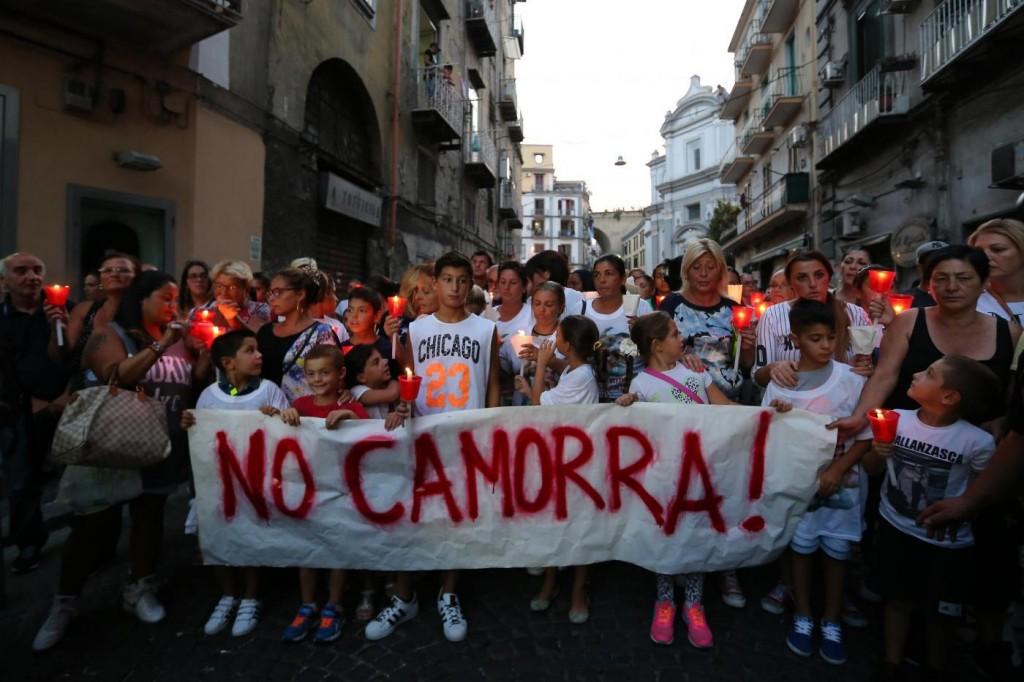 Manifestazione in ricordo di Gennaro Cesarano, il 17enne ucciso a colpi di pistola a Napoli