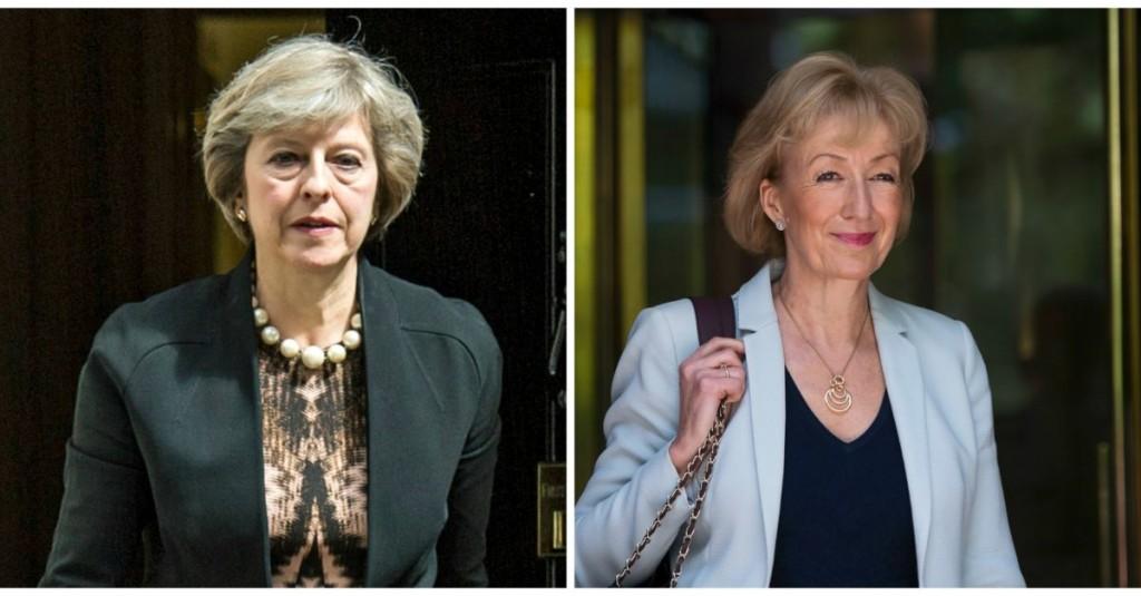 Da sinistra: Theresa May, Segretario agli affari Interni e Andrea Leadsom, ministro all'Energia