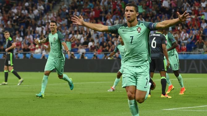 Portogallo galles Ronaldo