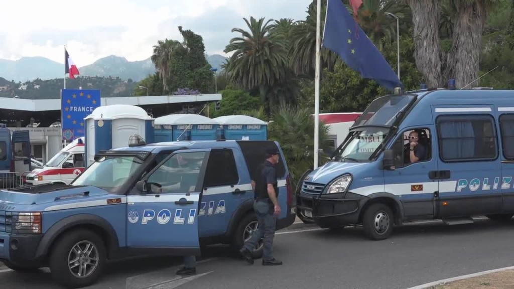 La frontiera fra Italia e Francia a Ventimiglia