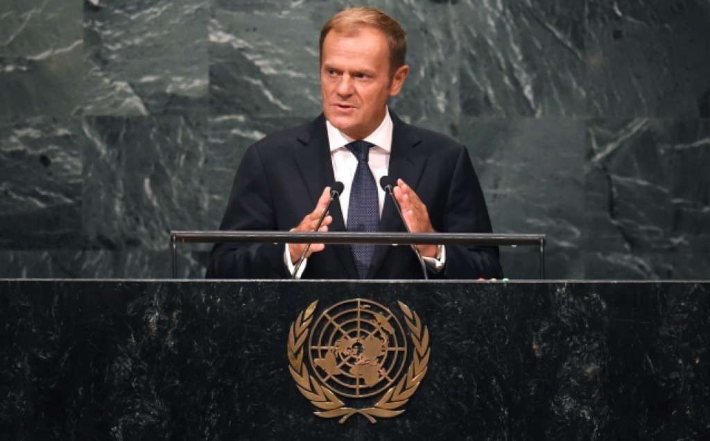 Donald Tusk all'Assemblea generale dell'Onu