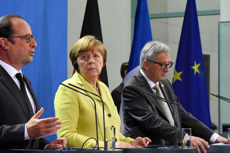 Berlino, Hollande, Merkel, Juncker, industriali