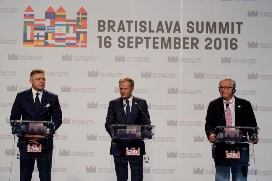 Bratislava, Dichiarazione, Summit, Juncker, Tusk, Fico