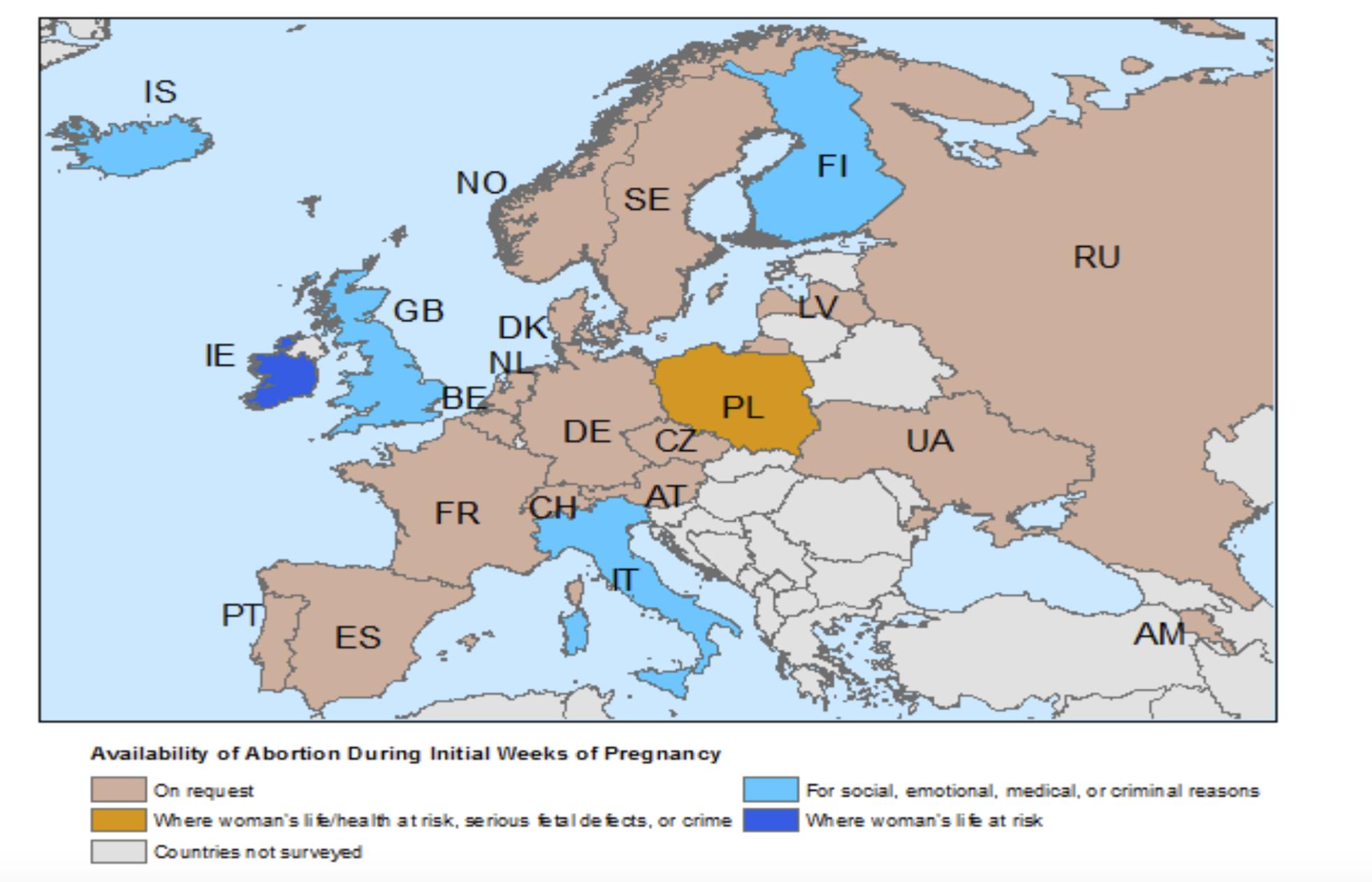 Il Diritto Allaborto In Europa La Situazione Negli Stati Membri
