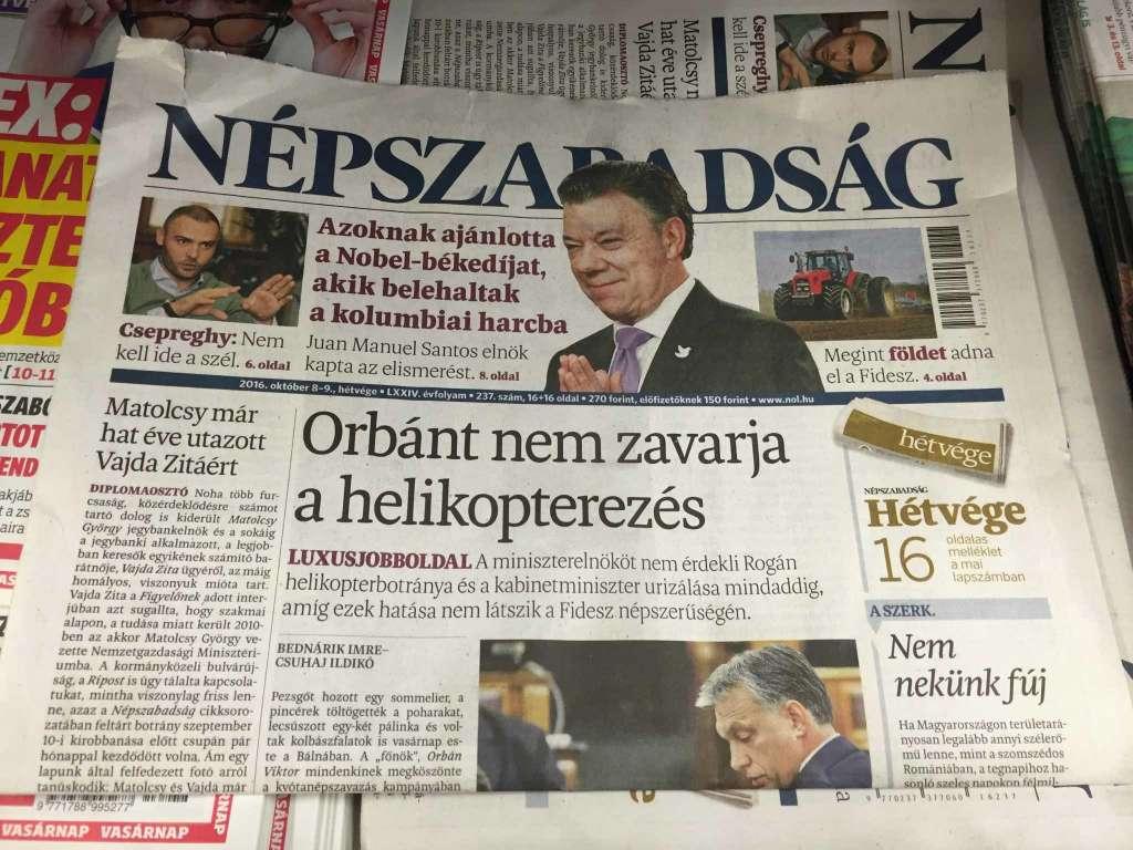 giornale ungheria