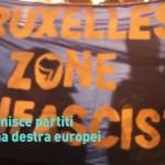 In centinaia in piazza a Bruxelles contro l'estrema destra europea Apf (Video)