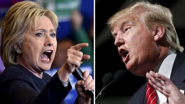 #Usa2016, Clinton Trump voto