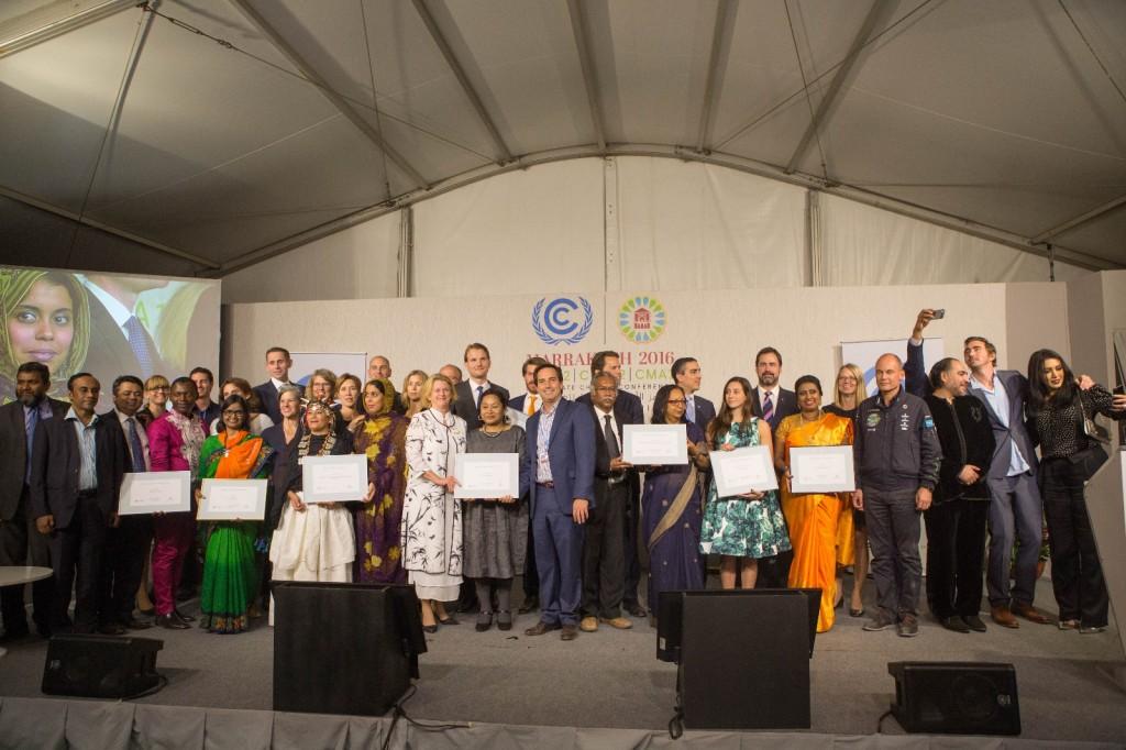 I vincitori dei premi Momentum for Change durante la COP22 di Marrakech