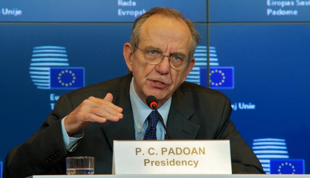 Pier Carlo Padoan ai tempi della presidenza italiana dell'Ue
