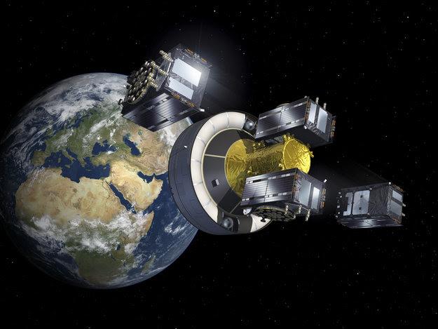 Una simulazione dello sgancio in orbita dei satelliti Galileo - fonte: Esa