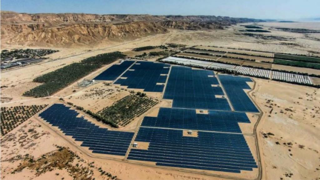 Un impianto solare Edf in Israele