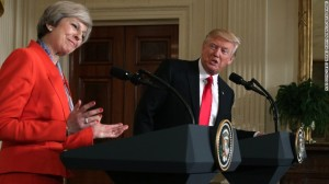 Theresa May, Donald Trump, visita