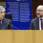 Tajani e Schulz - © European Union 2016 - Source : EP