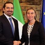 Mogherini: il Libano partner strategico dell'Ue nel Medio oriente