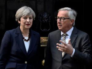 Brexit, May, Juncker, cena