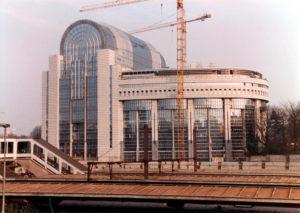 Parlamento europeo, edifici, riscostruzione