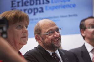 Angela Merkel(Cdu) e Martin Schulz(Spd)