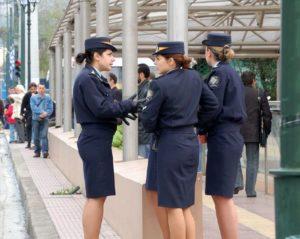 Grecia, polizia, altezza