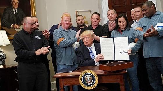 Trump dazi acciaio