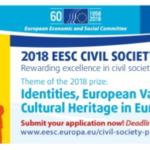 Cultura, integrazione, Europa: il Cese premia i campioni di impegno civico
