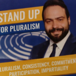 La campagna di Castaldo per la conferma a vice presidente dell'Europarlamento