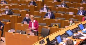 Ursula von der Leyen oggi in Parlamento