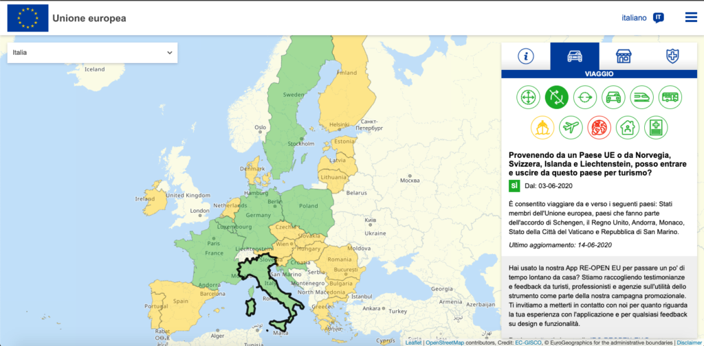 Re Open Eu La Commissione Europea Lancia Una Piattaforma Web Per