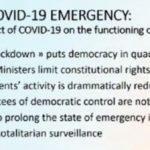 Il COVID mette a rischio la democrazia mentre la eDemocracy sta avvicinando i cittadini alle istituzioni UE