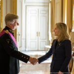 L'ambasciatrice Basile lascia Bruxelles, il saluto dei reali a Palazzo