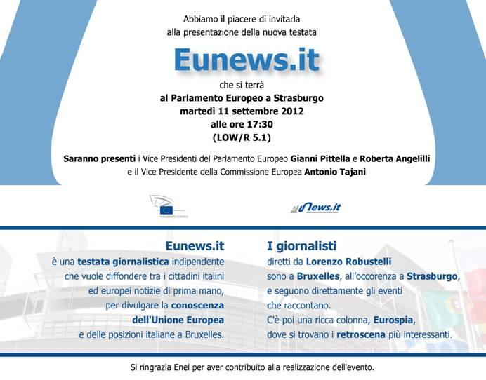 Invito Parlamento Europeo