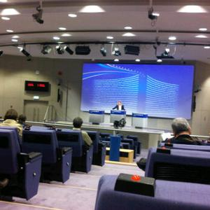 La sala stampa del Berlaymont