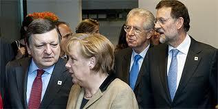 MOnti, Merkel, Barroso, Rajoy