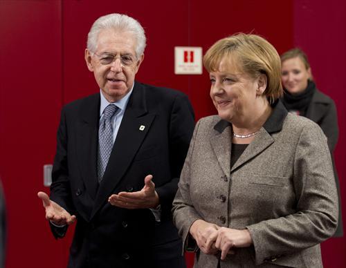 Monti e Merkel