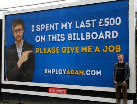 manifesto disoccupato