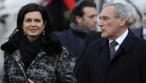 Laura Boldrini e Pietro Grasso