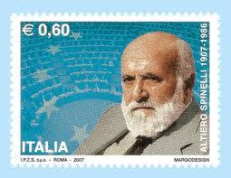 Il francobollo dedicato ad Altiero Spinelli